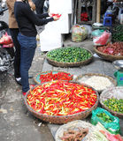 Vietnamese Peppers at a Local Market Royalty Free Stock Photo