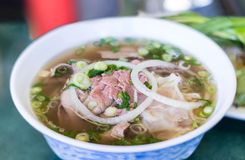 Vietnamese Pho Beef Noodle Soup Royalty Free Stock Image