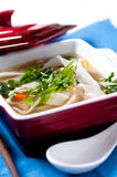 Vietnamese pho chicken soup Stock Photography