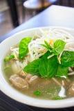 Vietnamese Pho Noodle Soup. A close up shot of a Vietnamese pho noodle soup Stock Photos
