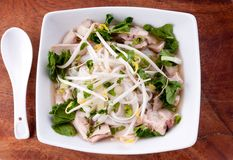 Vietnamese pho soup, an ethnic meal of chicken soup, Royalty Free Stock Photos