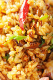Vietnamese pilaf served with vegetables closeup Stock Photo