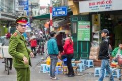 Vietnamese police in Hanoi Stock Photography