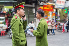 Vietnamese police in Hanoi Royalty Free Stock Photography
