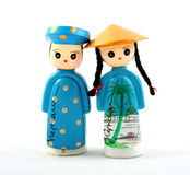 Vietnamese poppen Stock Fotografie