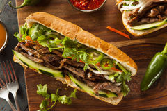 Vietnamese Pork Banh Mi Sandwich Stock Photos