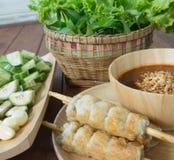 Vietnamese Pork Sausage Royalty Free Stock Photos