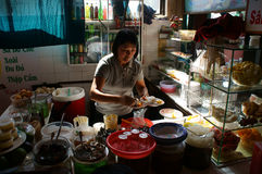 Vietnamese  restaurateur at sweet soup reataurant Stock Photos