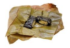 Vietnamese rice cake (gai). Vietnamese rice cake isolated on white background(banh gai stock photo