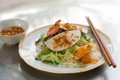 Vietnamese rice noodle roll, Banh Cuon Stock Photo