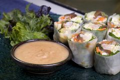 Vietnamese Rice Rolls Royalty Free Stock Photos