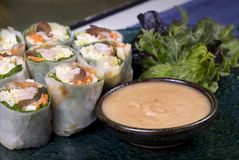 Vietnamese Rice Rolls Stock Photography