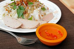 Vietnamese rice rolls and vegetable Royalty Free Stock Photography