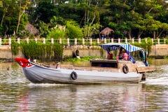 Vietnamese rivierboot Royalty-vrije Stock Foto's