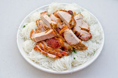 Vietnamese Roasted Pork with Vermicelli Royalty Free Stock Images