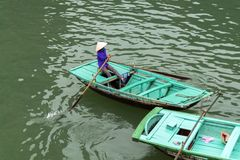 Vietnamese Rowing Boat. Stock Images