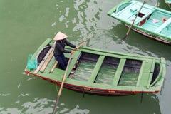 Vietnamese Rowing Boats. Royalty Free Stock Photo