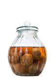 Vietnamese salted and pickled limes in a glass jar Royalty Free Stock Photography