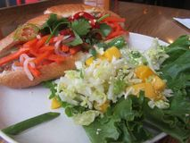 Vietnamese Sandwich and Salad. For lunch, dinner, and brunch Stock Images