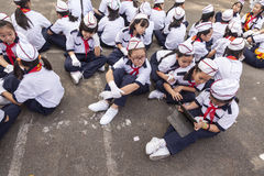 Vietnamese school kids Royalty Free Stock Photos