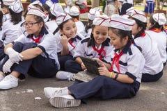 Vietnamese school kids Royalty Free Stock Image