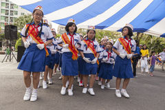 Vietnamese school kids Stock Image