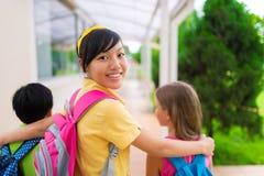 Vietnamese schoolgirl Stock Images