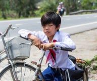 Vietnamese Schooljongen Stock Afbeelding
