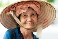 Vietnamese senior lady Stock Images