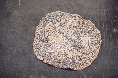 The Vietnamese Sesame Rice Cracker is called Banh Da and is made of tapioca flour, rice flour, salt, and sprinkled with black sesa Royalty Free Stock Image