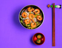 Vietnamese shrimp pho soup Stock Image