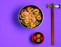 Vietnamese shrimp pho soup Stock Image