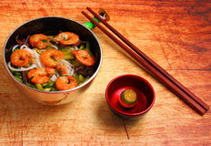 Vietnamese shrimp pho soup Royalty Free Stock Photo