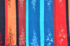 Vietnamese silk scarf Stock Photo