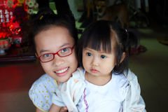 Vietnamese sisters Royalty Free Stock Image
