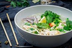 Vietnamese soep Pho GA royalty-vrije stock foto