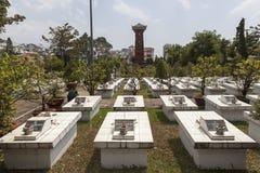 Vietnamese soldiers graveyard Stock Images