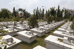 Vietnamese soldiers graveyard Stock Photo