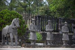 Vietnamese Soldiers statues at Khai Dinh Royalty Free Stock Photo