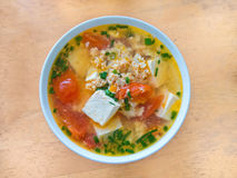 Vietnamese Sour Tofu Egg Soup Royalty Free Stock Photography
