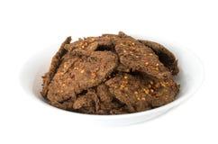 Vietnamese spicy beef jerky Stock Images
