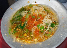 Vietnamese spicy noodles Royalty Free Stock Image