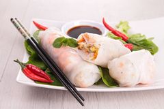 Vietnamese spring roll Royalty Free Stock Images