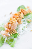 Vietnamese spring roll with lettuce Stock Photo