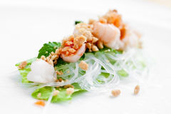 Vietnamese spring roll with lettuce Stock Photography