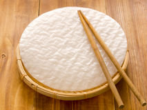Vietnamese spring roll rice paper Royalty Free Stock Photography