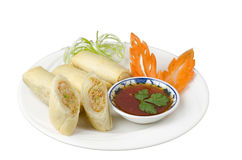 Vietnamese spring rolls Stock Photos