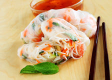 Vietnamese spring rolls Stock Photography