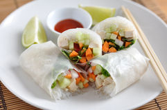 Vietnamese spring rolls Stock Images