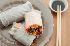 Vietnamese spring rolls with quinoa Stock Image